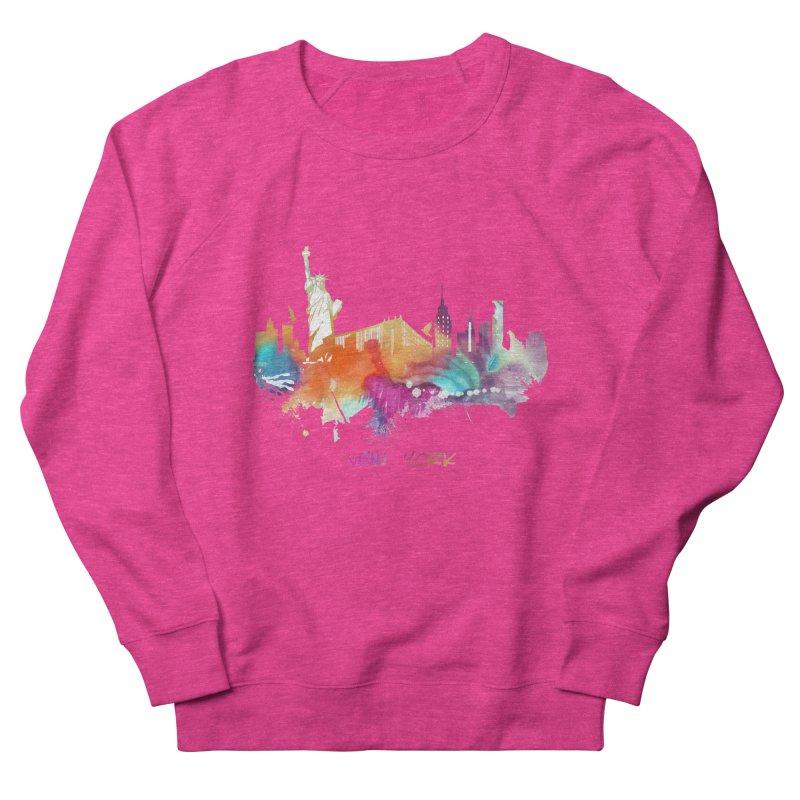 New York City skyline Men's French Terry Sweatshirt by jbjart Artist Shop