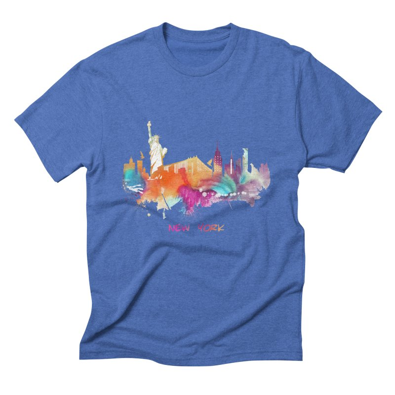 New York City skyline Men's T-Shirt by jbjart Artist Shop