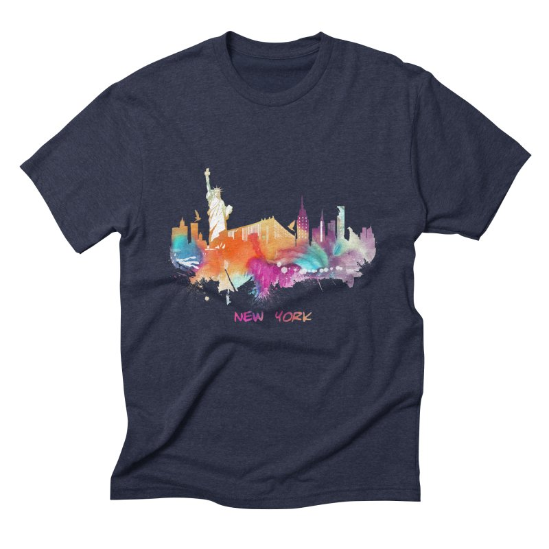 New York City skyline Men's Triblend T-Shirt by jbjart Artist Shop