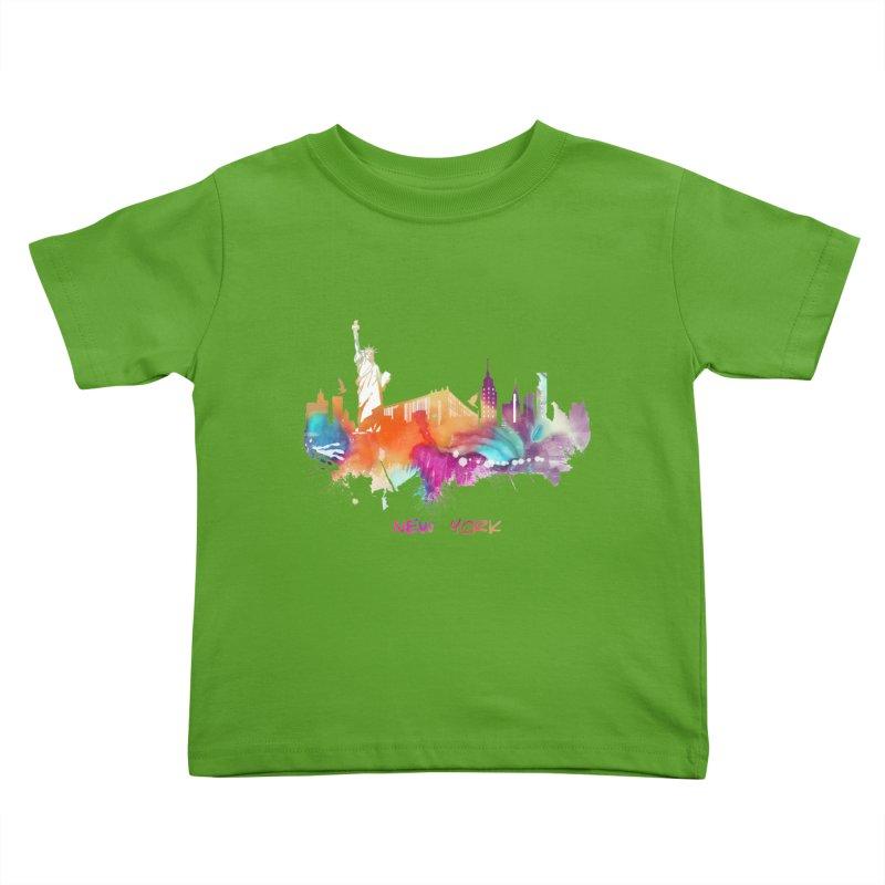 New York City skyline Kids Toddler T-Shirt by jbjart Artist Shop