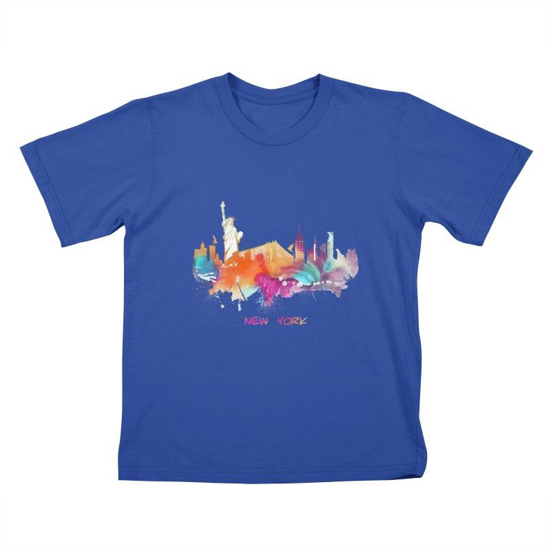 New York City skyline Kids T-Shirt by jbjart Artist Shop