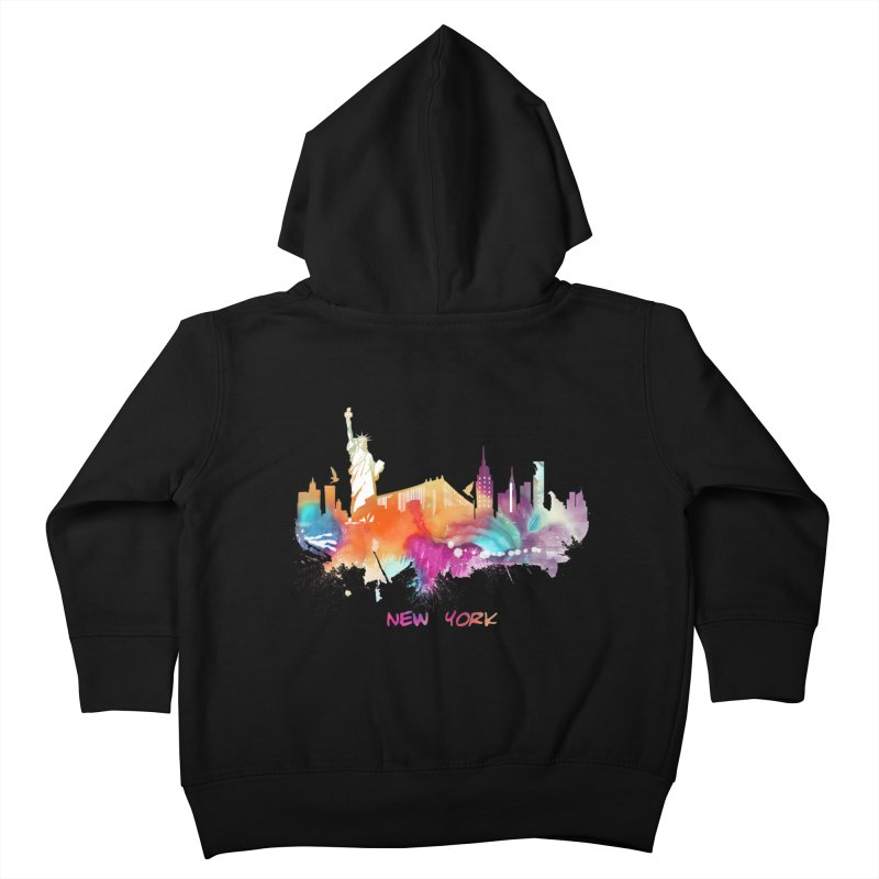 New York City skyline Kids Toddler Zip-Up Hoody by jbjart Artist Shop