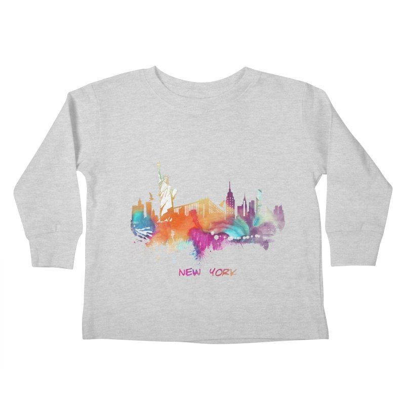 New York City skyline Kids Toddler Longsleeve T-Shirt by jbjart Artist Shop