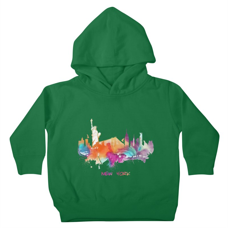 New York City skyline Kids Toddler Pullover Hoody by jbjart Artist Shop