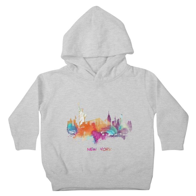 New York City skyline Kids Toddler Pullover Hoody by jbjart Artist Shop