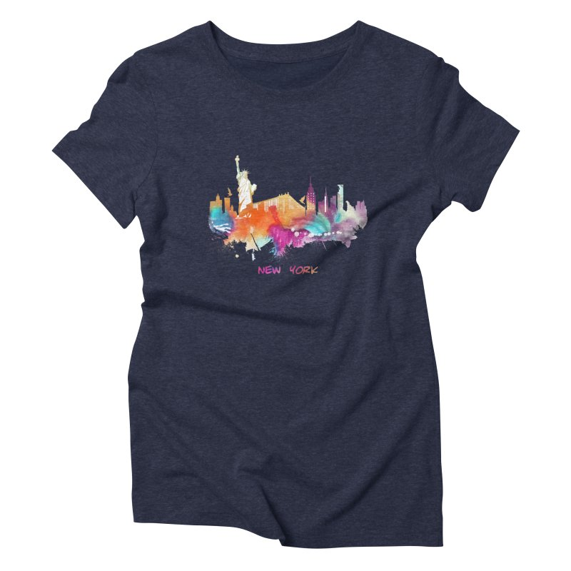 New York City skyline Women's Triblend T-Shirt by jbjart Artist Shop