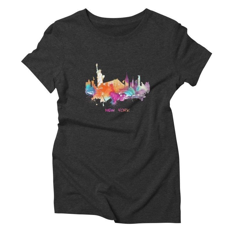 New York City skyline Women's Triblend T-Shirt by jbjart Artist Shop