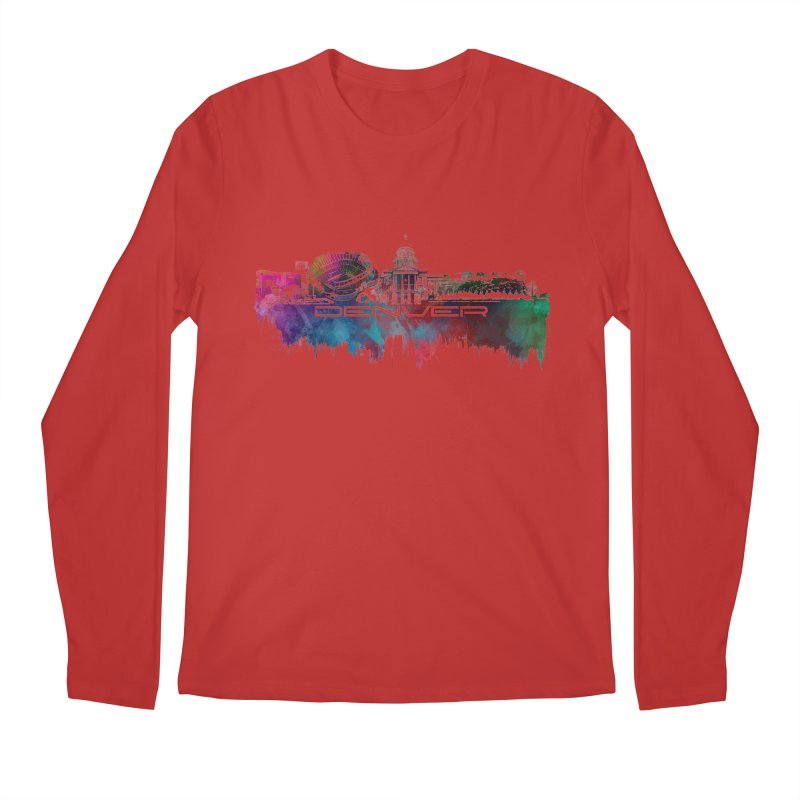 Denver skyline Men's Regular Longsleeve T-Shirt by jbjart Artist Shop