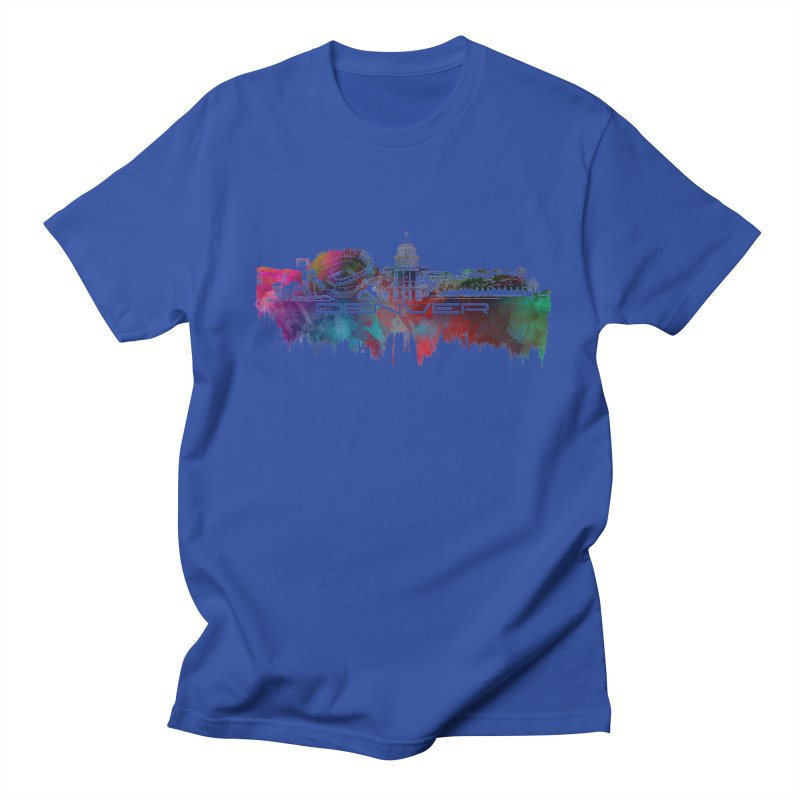 Denver skyline Men's Regular T-Shirt by jbjart Artist Shop
