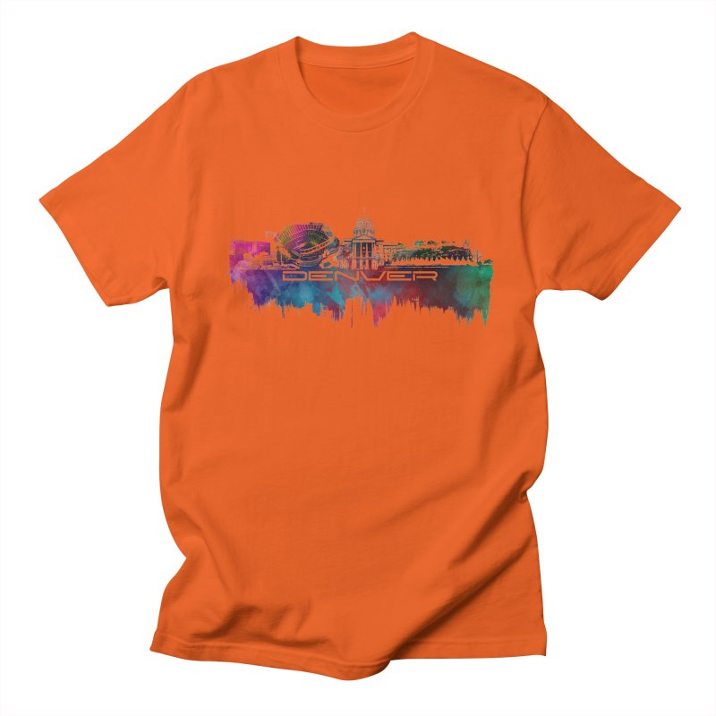 Denver skyline Men's Regular T-Shirt by jbjart Artist Shop