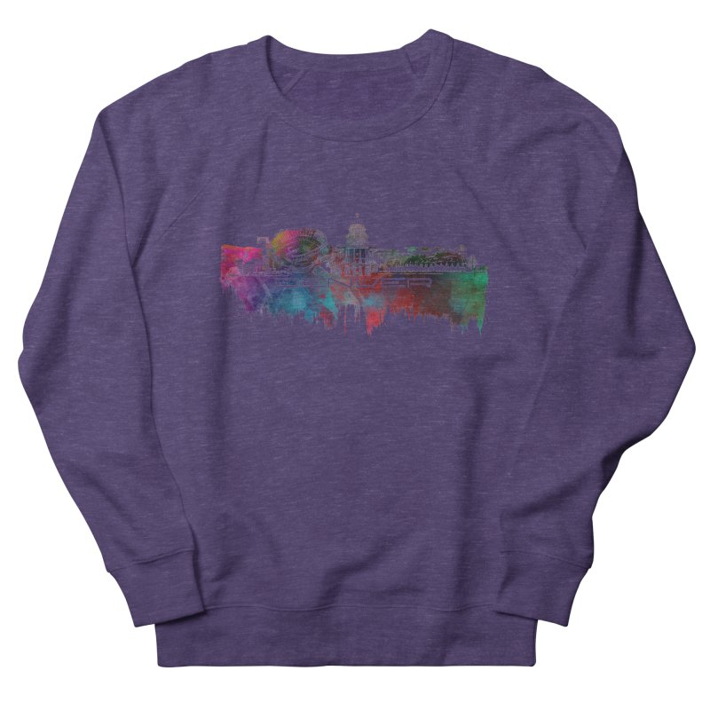 Denver skyline Women's French Terry Sweatshirt by jbjart Artist Shop