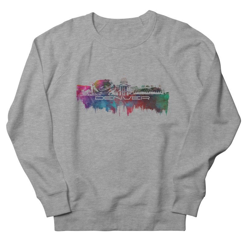 Denver skyline Men's French Terry Sweatshirt by jbjart Artist Shop