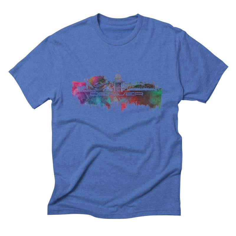 Denver skyline Men's T-Shirt by jbjart Artist Shop