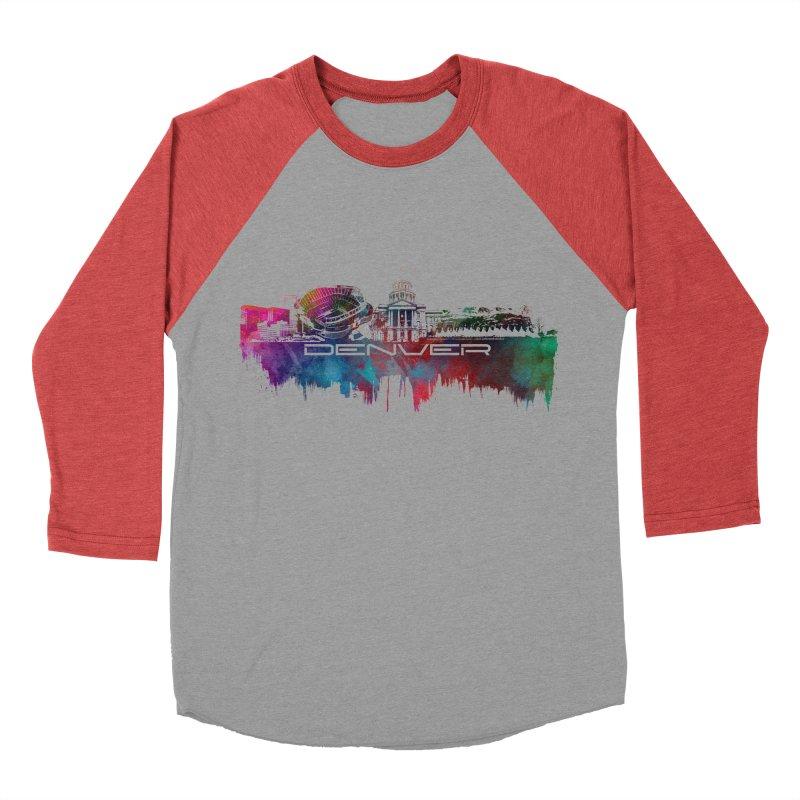 Denver skyline Women's Baseball Triblend Longsleeve T-Shirt by jbjart Artist Shop