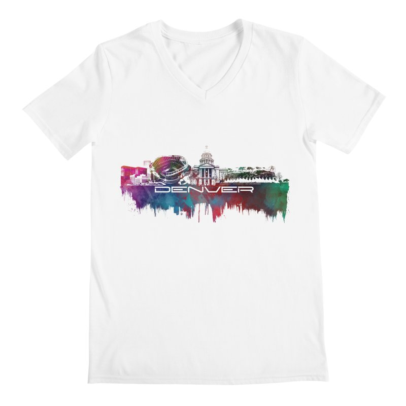 Denver skyline Men's V-Neck by jbjart Artist Shop