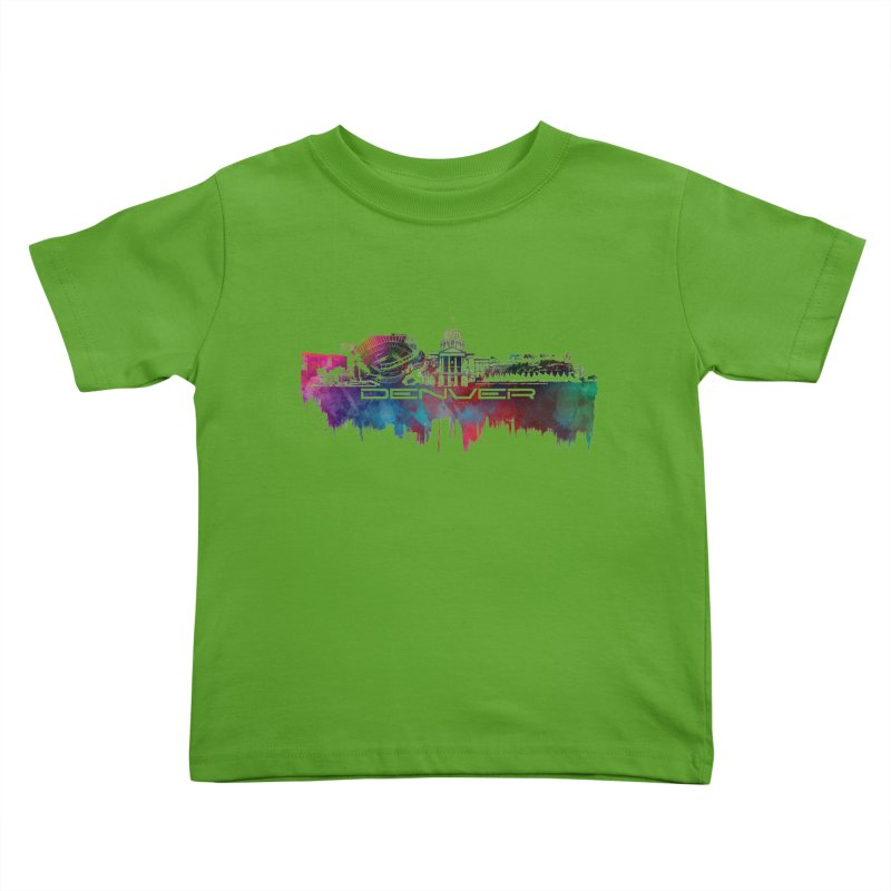 Denver skyline Kids Toddler T-Shirt by jbjart Artist Shop