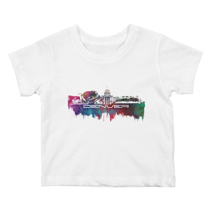 Denver skyline Kids Baby T-Shirt by jbjart Artist Shop