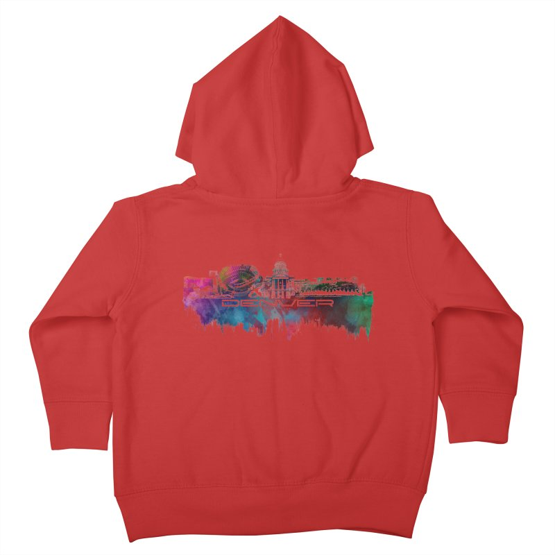 Denver skyline Kids Toddler Zip-Up Hoody by jbjart Artist Shop