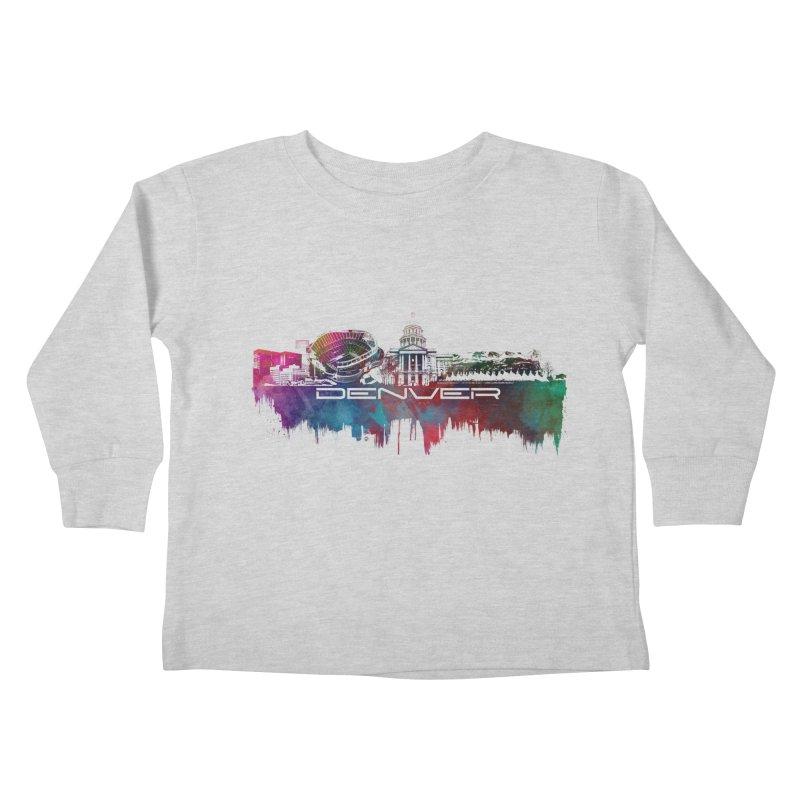 Denver skyline Kids Toddler Longsleeve T-Shirt by jbjart Artist Shop