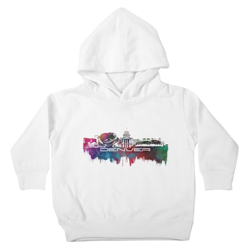 Denver skyline Kids Toddler Pullover Hoody by jbjart Artist Shop