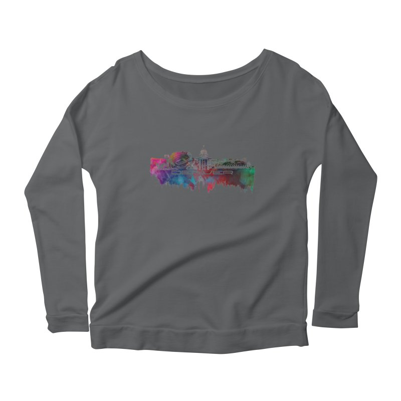 Denver skyline Women's Longsleeve T-Shirt by jbjart Artist Shop