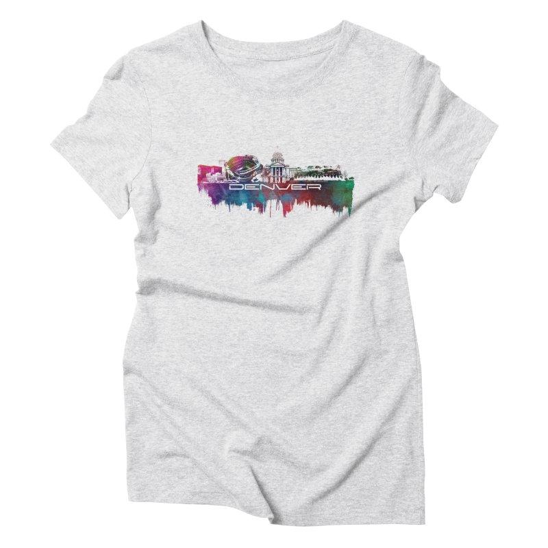 Denver skyline Women's T-Shirt by jbjart Artist Shop