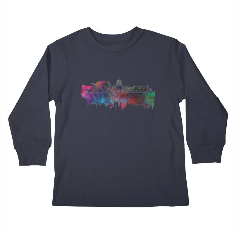 Denver skyline Kids Longsleeve T-Shirt by jbjart Artist Shop