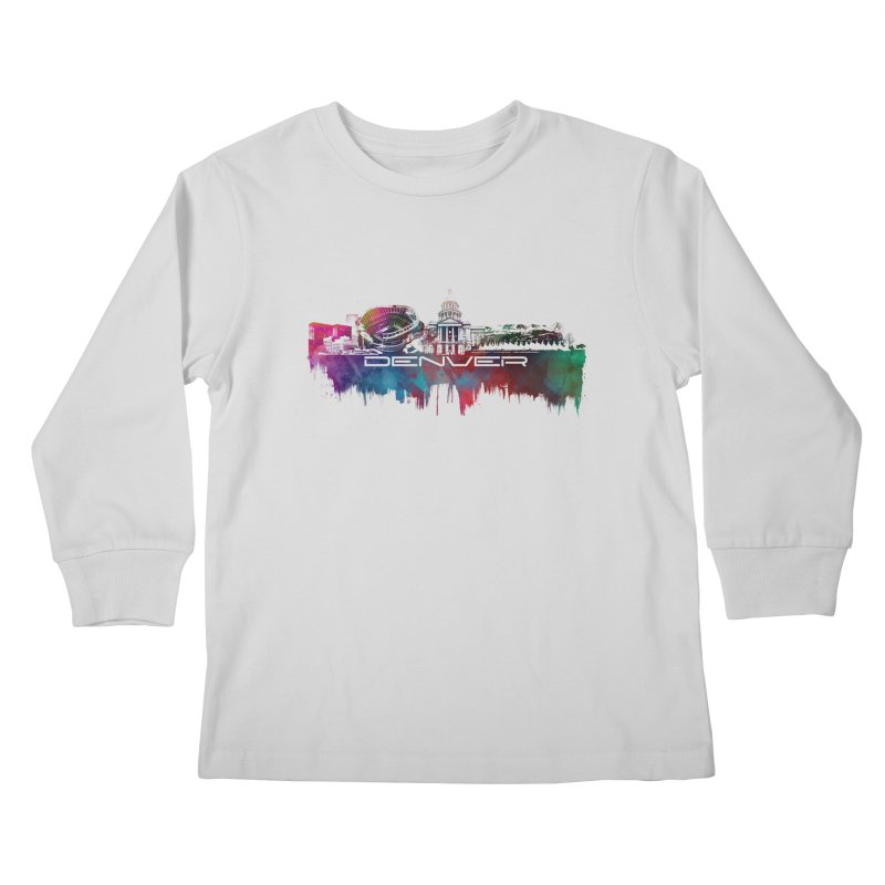 Denver skyline Kids Longsleeve T-Shirt by jbjart Artist Shop