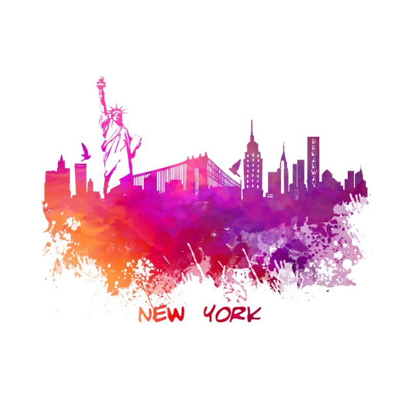 New York Women's Pullover Hoody by jbjart Artist Shop