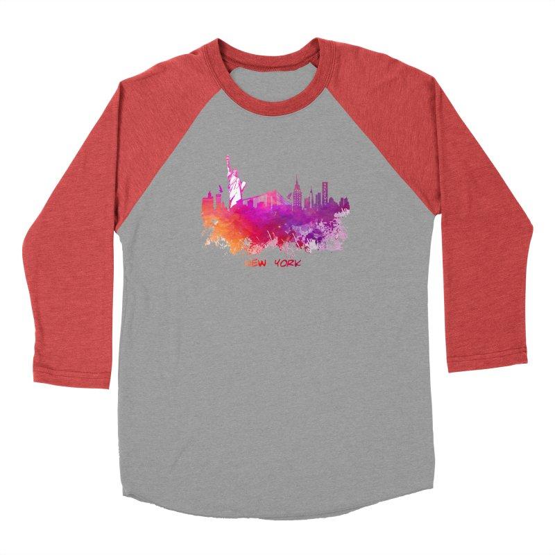 New York Men's Longsleeve T-Shirt by jbjart Artist Shop