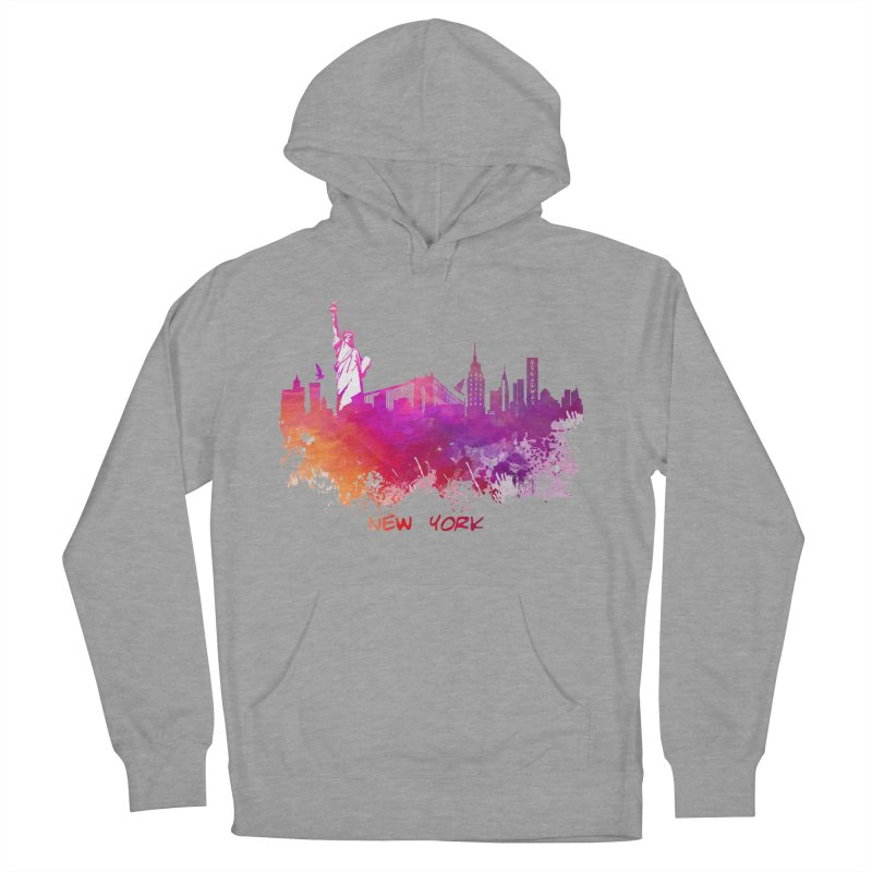New York Women's French Terry Pullover Hoody by jbjart Artist Shop