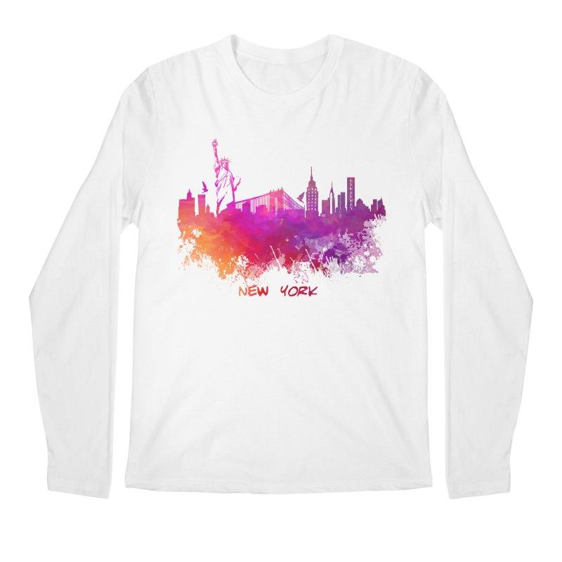 New York Men's Regular Longsleeve T-Shirt by jbjart Artist Shop