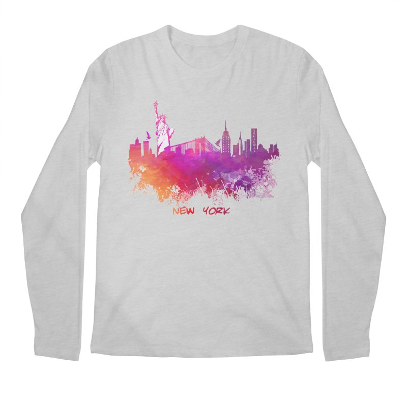 New York Men's Regular Longsleeve T-Shirt by jbjart Artist Shop