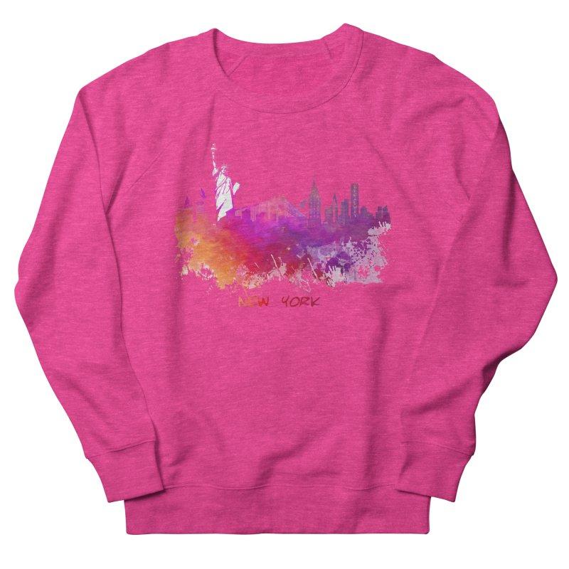 New York Women's French Terry Sweatshirt by jbjart Artist Shop