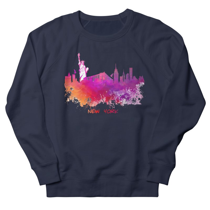 New York Women's French Terry Sweatshirt by jbjart Artist Shop