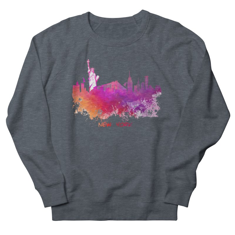 New York Men's French Terry Sweatshirt by jbjart Artist Shop