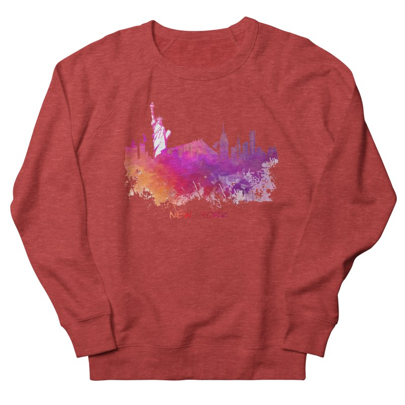 New York Men's French Terry Sweatshirt by jbjart Artist Shop