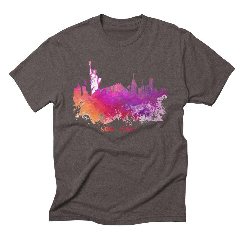 New York Men's Triblend T-Shirt by jbjart Artist Shop