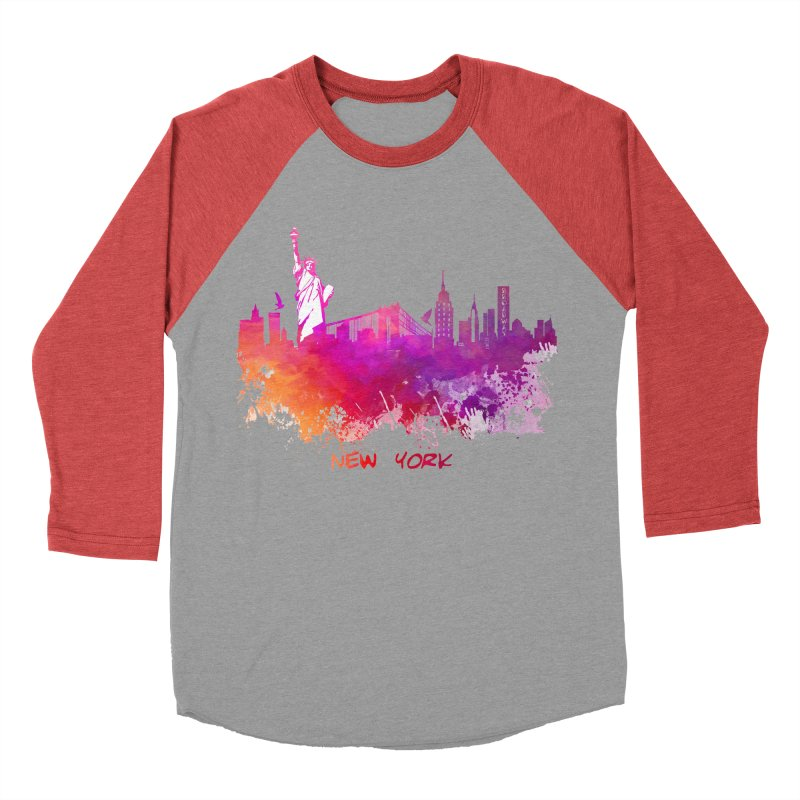 New York Women's Baseball Triblend Longsleeve T-Shirt by jbjart Artist Shop