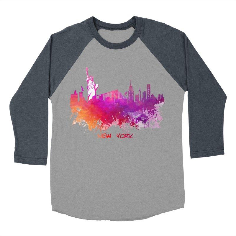 New York Women's Baseball Triblend Longsleeve T-Shirt by jbjart Artist Shop