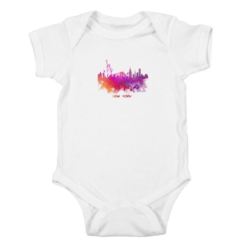 New York Kids Baby Bodysuit by jbjart Artist Shop