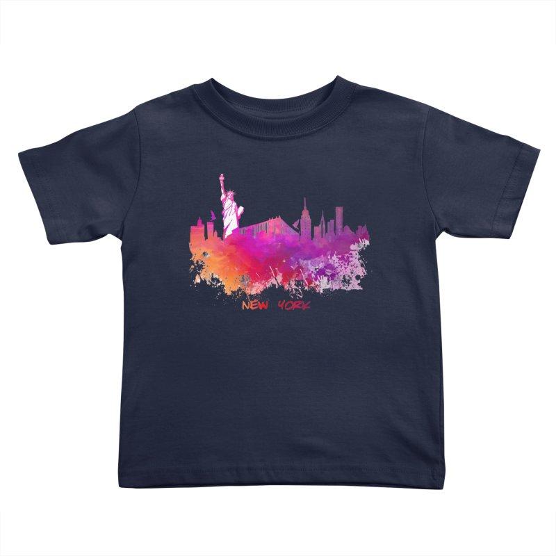 New York Kids Toddler T-Shirt by jbjart Artist Shop