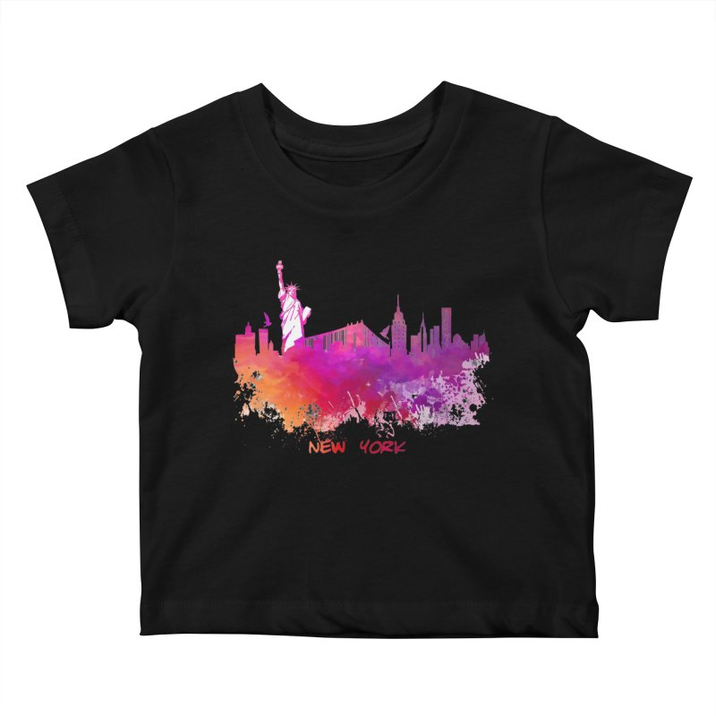 New York Kids Baby T-Shirt by jbjart Artist Shop