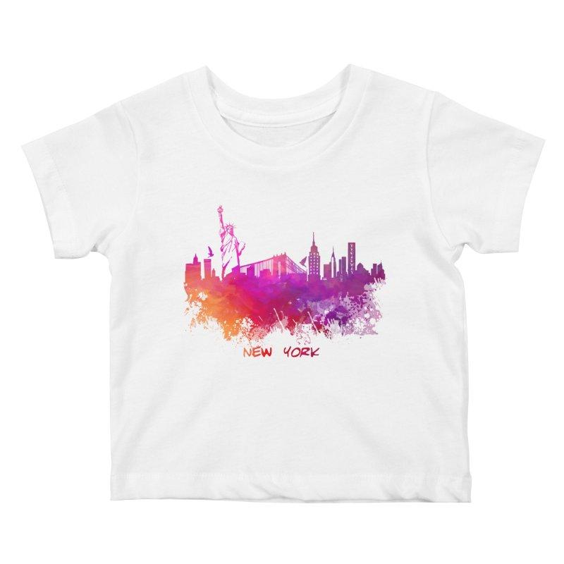 New York Kids Baby T-Shirt by jbjart Artist Shop