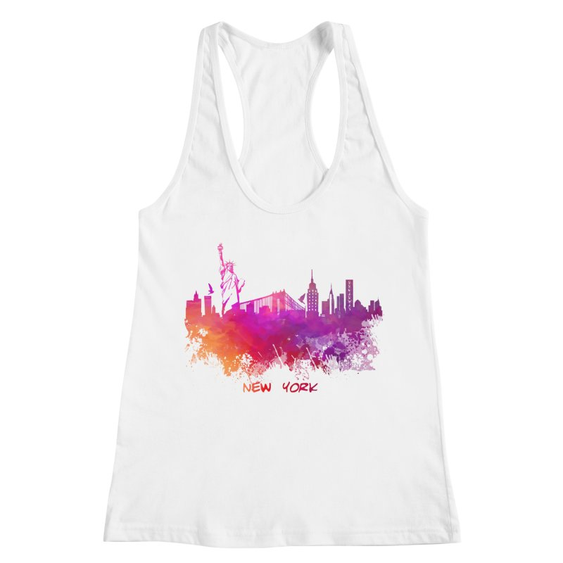 New York Women's Racerback Tank by jbjart Artist Shop