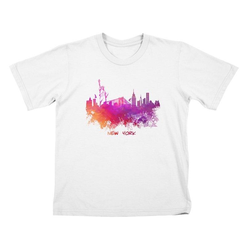 New York Kids T-Shirt by jbjart Artist Shop
