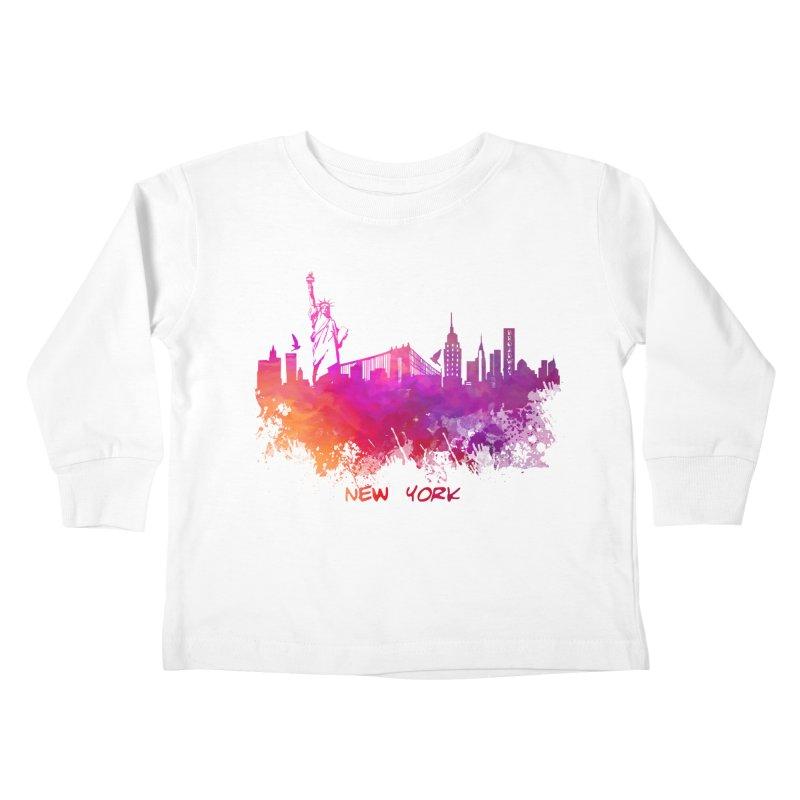 New York Kids Toddler Longsleeve T-Shirt by jbjart Artist Shop