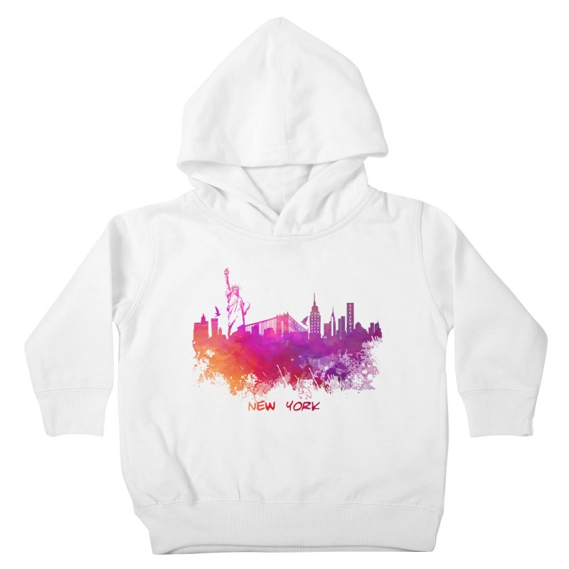 New York Kids Toddler Pullover Hoody by jbjart Artist Shop