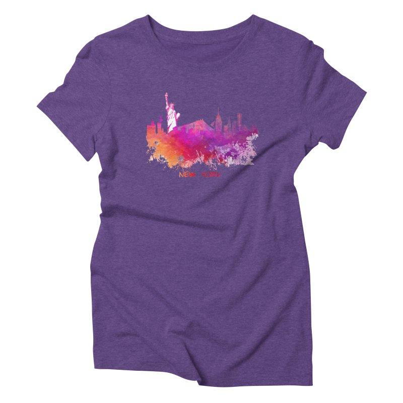 New York Women's Triblend T-Shirt by jbjart Artist Shop