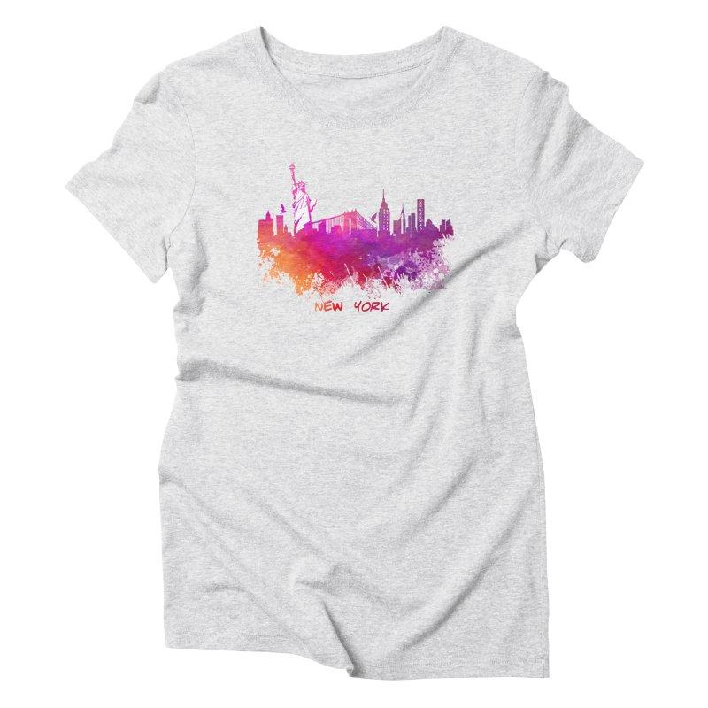 New York Women's T-Shirt by jbjart Artist Shop